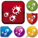 Icon series: bugs Stock Image