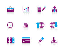 Icon series...business Stock Image