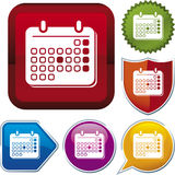 Icon series: calendar Royalty Free Stock Photography