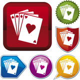 Icon series: cards Royalty Free Stock Photography