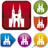 Icon series: cathedral Royalty Free Stock Photos
