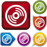 Icon series: CD (vector) Royalty Free Stock Photo