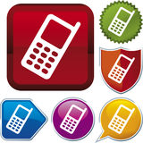 Icon series: cellphone Royalty Free Stock Images