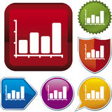 Icon series: chart (vector) Stock Image