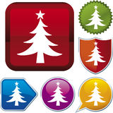Icon series: christmas tree Stock Images