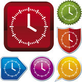 Icon series: clock Stock Photo