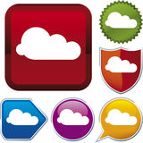 Icon series: cloud (vector) Stock Images