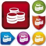 Icon series: coins Stock Photo