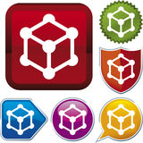 Icon series: cube (vector) Stock Photo