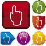 Icon series: cursor hand Royalty Free Stock Image