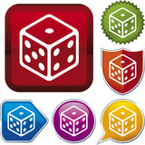 Icon Series: Dice (vector) Royalty Free Stock Photo