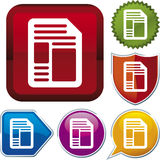 Icon series: document (vector) Stock Photos