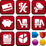 Icon series: e-commerce Stock Photos
