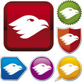 Icon series: eagle Royalty Free Stock Photos