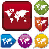 Icon series: earth Royalty Free Stock Photo