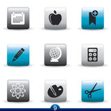 Icon series - education Royalty Free Stock Photos