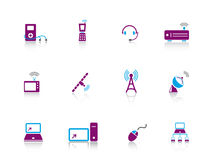 Icon series...electronics Stock Photos