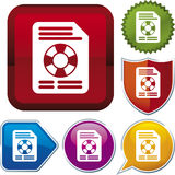 Icon series: file recovery Stock Image