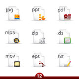 Icon series - files and documents Royalty Free Stock Photo