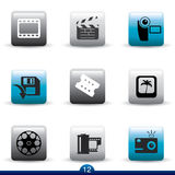 Icon series - film and movie Stock Photos