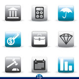 Icon series - finance. Set of finance icons from series Royalty Free Stock Photography