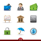 Icon series - finance Stock Photos