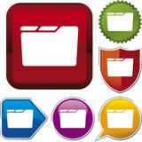 Icon series: folder Royalty Free Stock Photos