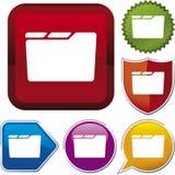 Icon series: folder Royalty Free Stock Photos