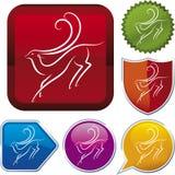 Icon series: gazelle Royalty Free Stock Photo
