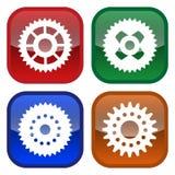 Icon series gear (vector) Stock Photos