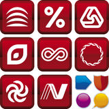 Icon series: geometry Royalty Free Stock Photography