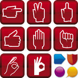 Icon series: gesture hands Stock Image