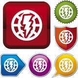 Icon series: global energy Royalty Free Stock Photography