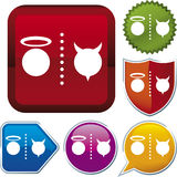 Icon series: good/evil (vector) Stock Image