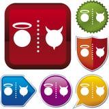 Icon series: good/evil (vector) Stock Image