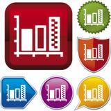 Icon series: graph Stock Photos