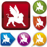 Icon series: griffin (vector) Stock Photos