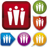 Icon series: group (vector) Stock Photography