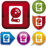 Icon series: hard disk Stock Image