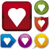 Icon series: heart (vector) Stock Photo