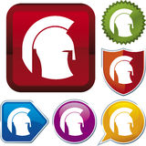 Icon series: helmet Stock Images