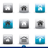 Icon series - home services. Icon set from a series in my portfolio Stock Images