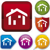 Icon series: home (vector) Stock Photo