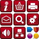 Icon series: internet Stock Photography