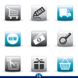 Icon series - internet shopping Stock Image