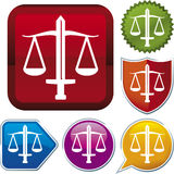 Icon series: justice Stock Photography