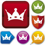 Icon series: king Royalty Free Stock Image