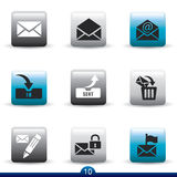 Icon series - mail Royalty Free Stock Photos