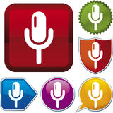 Icon series: microphone (vector) Royalty Free Stock Images