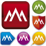 Icon series: mountain (vector) Royalty Free Stock Image